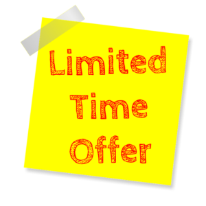 2020 Holi Limited Time Offer Sign
