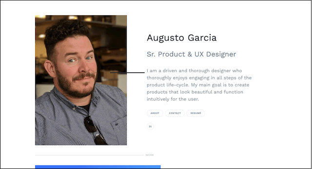 Augusto Garcia portfolio example