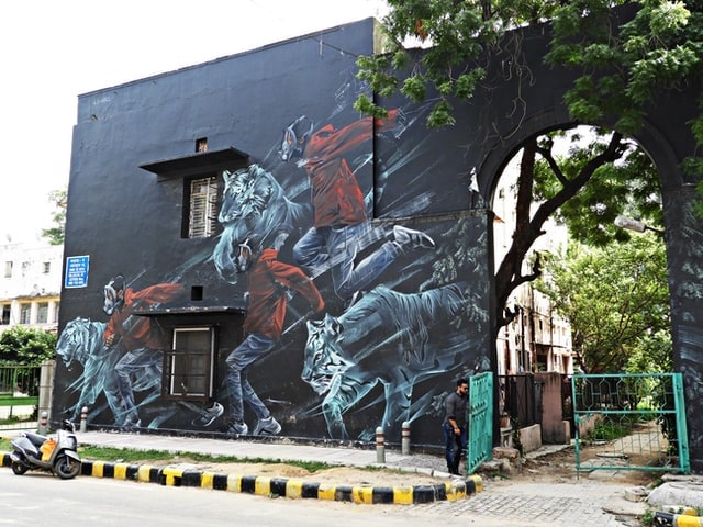 Business Continuity Plan Delhi Building with Beautiful Mural