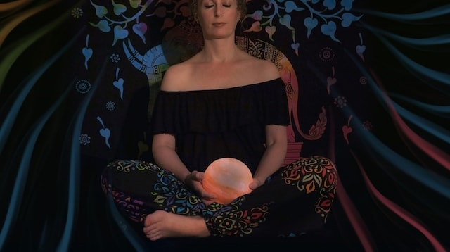 Business Name Numerology Woman Meditating