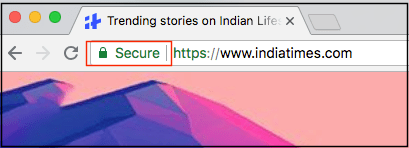 Closeup of Browser Bar Showing Google Not Secure Label