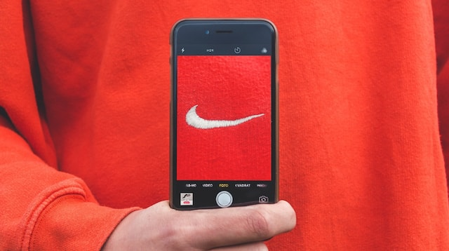 Digital Marketing Work Nike Logo on Smartphone
