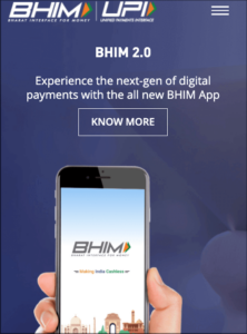 Electronic Payment System BHIM UPI Org