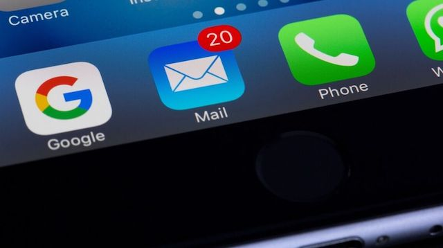 Email Campaign Email Icon on Smartphone