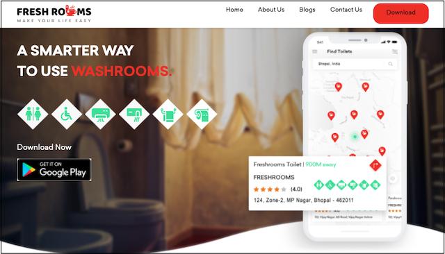 Startup award winner Freshrooms website home page