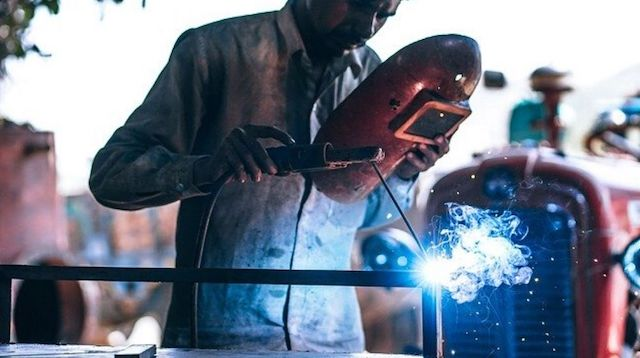 Government Business Loan Man Welding