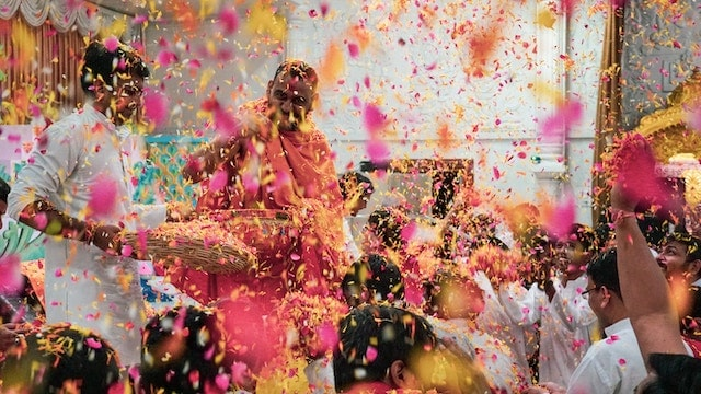 Holi Special People Amid Shower of Colour