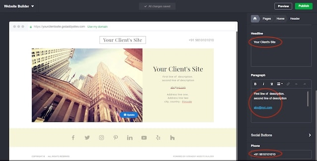 Web Design Work OSB Visiting Card Example