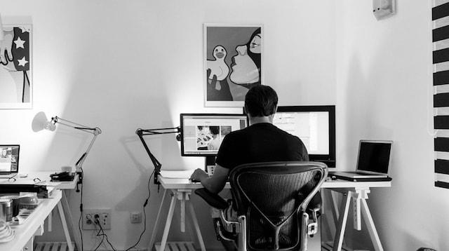 Make Money from Home Online Web Designer in Office