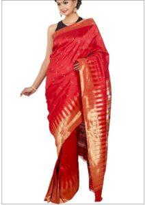 SEO Basics Woman Modelling Paithani Saree