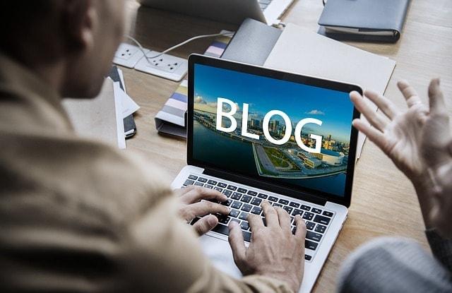 Social Media Marketing Strategy Man Blogging