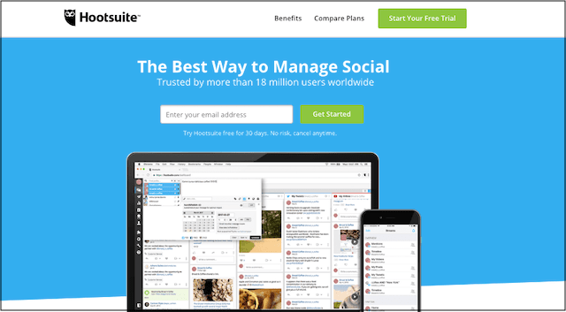 Image ALT: Social Media Marketing Tools Hootsuite