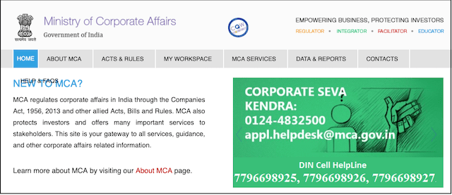 Starting Your Own Business Ministry of Corporate Affairs