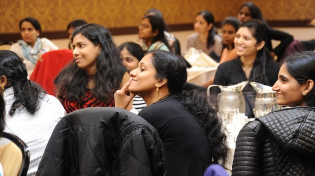 Startup Incubator Women at a Conference