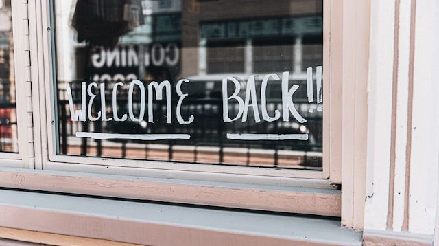 Stay Healthy Welcome Back Sign