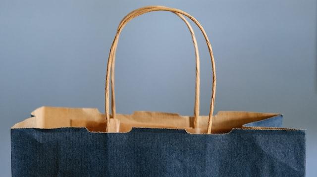 Unique Business Ideas Blue Paper Bag