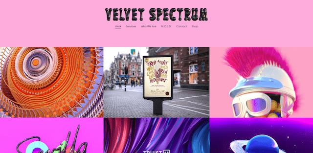 Velvet Spectrum portfolio example