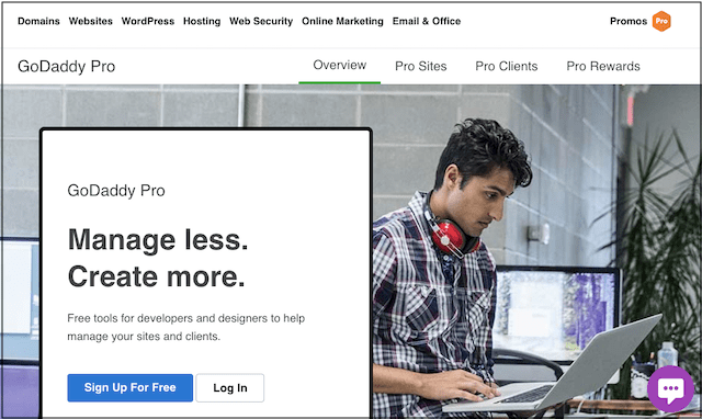 WordPress Developer GoDaddy Pro Landing Page