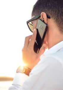Zoom Cloud Meetings Man Listening on Phone