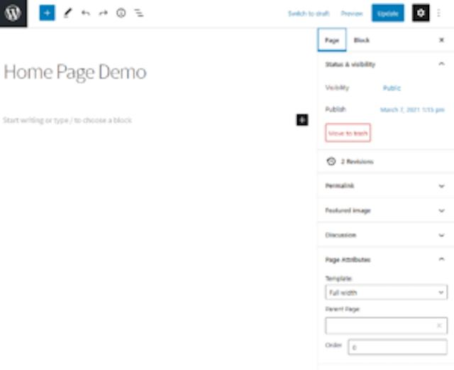 Home Page Demo
