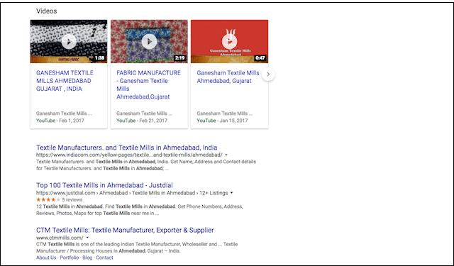 B2B Marketing Search Engine Results