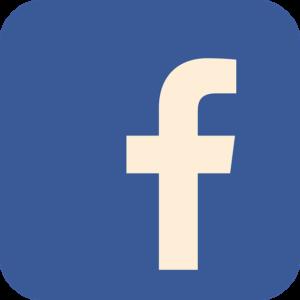 Blue Facebook logo'