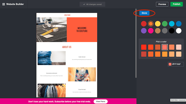 Create a Manufacturing Website Colour Picker