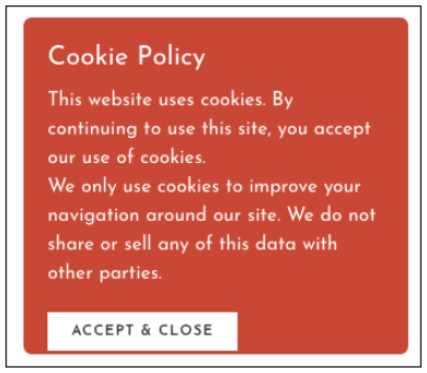 Create a Website Cookie Notice