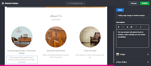 Design a Website About Us Screen