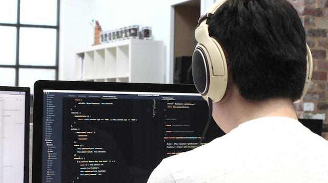 Digital Marketing Tools Programmer Working at Terminal