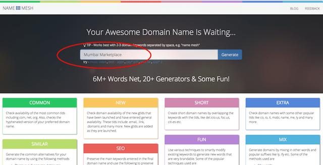 Domain Name Search Name Mesh