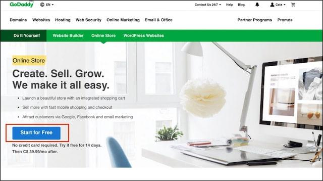 Ecommerce Website Builder Online Store Signup