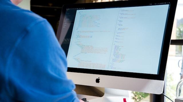 Job Description Developer Working at Desk