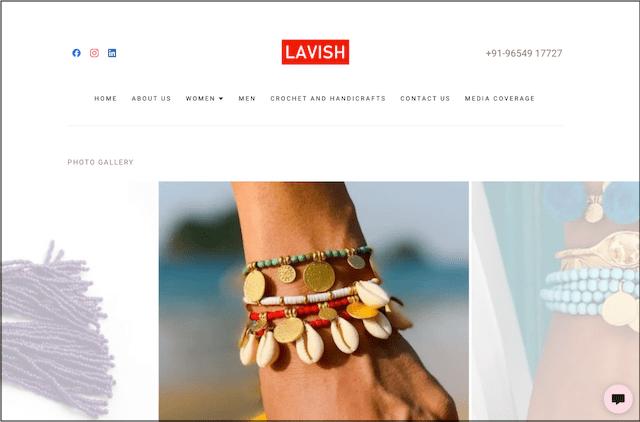 Lavish Aarushi website