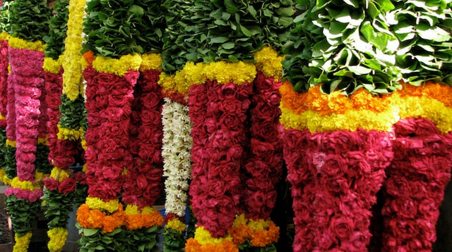 Mahatma Gandhi Jayanti Flower Stall