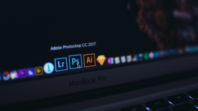 Photoshop icon in laptop menu bar