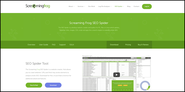 SEO Tools Screaming Frog SEO Spider