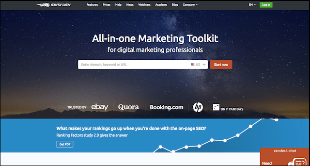 SEO Tools SEMrush