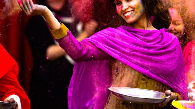 Ways to Earn Money Online Woman Celebrating Holi