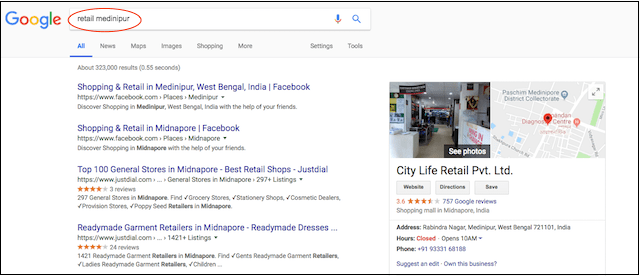 What is SEO Search Retail Medinipur